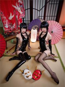 cosplay 水淼aqua&清水由乃 - 忍者双人